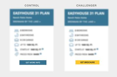 A/B testing for home builder website Example