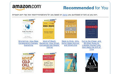 Personalized marketing from Amazon