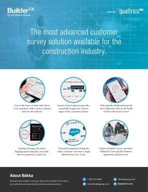 BuilderCX Customer Survey Solution Brochure