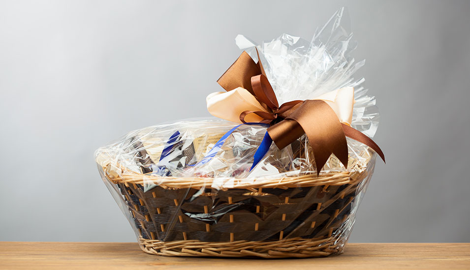 Home Builders closing gift basket for customer