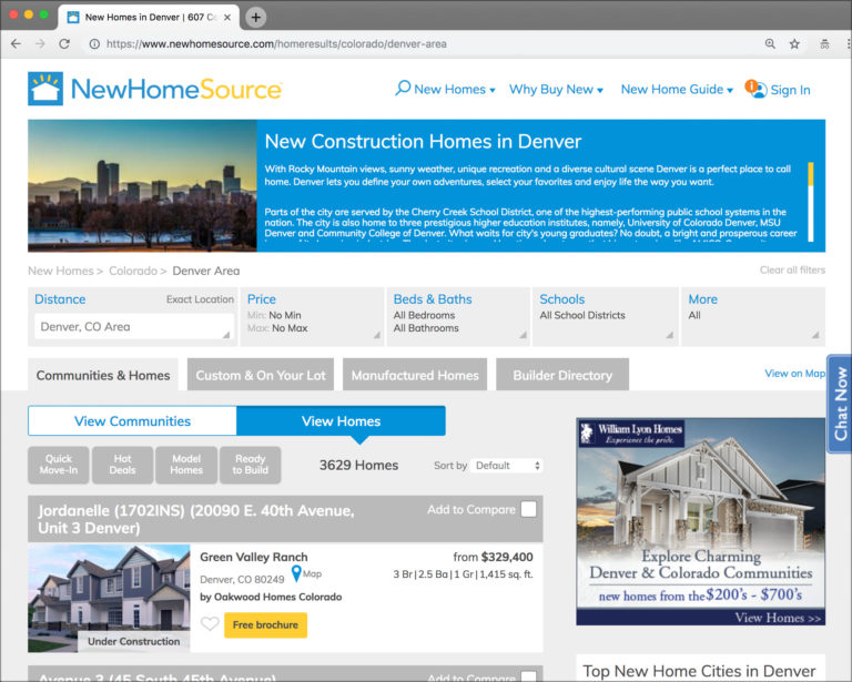 Home Builder Listing Technology