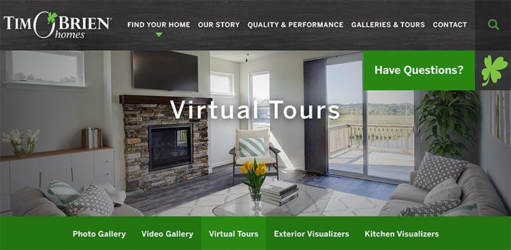 Tim-Obrien-Homes-Websiite-with-virtual-tours